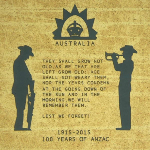 Silent tribute to fallen Anzacs inspired by Wilfred Owen