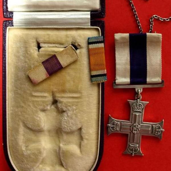 Military Cross and cigarette case - update