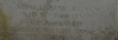 Inscription on Owen's grave