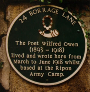 Plaque at Borrage Lane